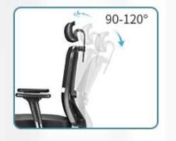 inclinazione schienale sedia da ufficio ergonomica mfavour 1