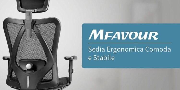 la sedia da ufficio ergonomica mfavour su qualità prezzo